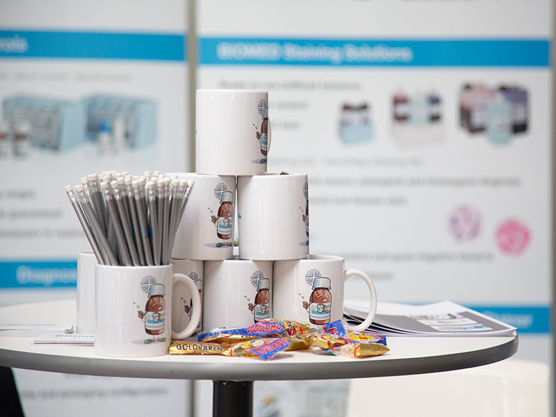 Messestand von BIOMED Labordiagnostik