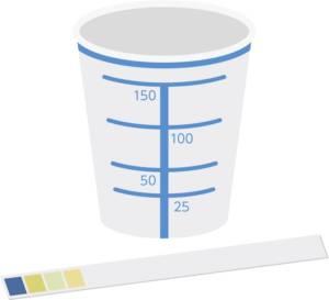 Urine test strips control POCT