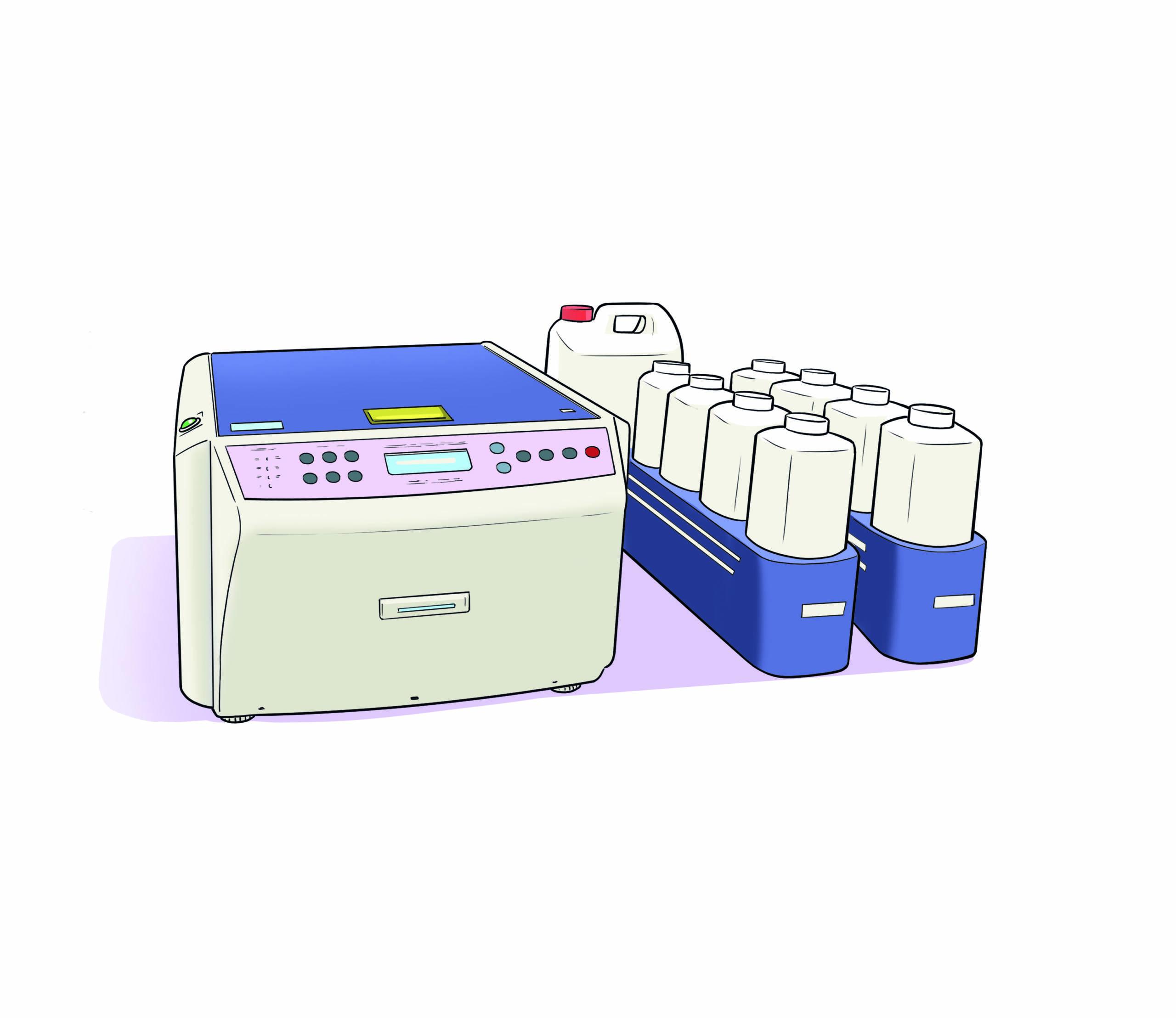 Injektionsfärbegerät