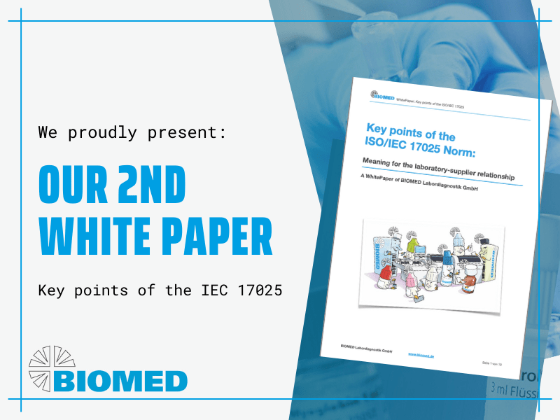 BIOMED Labordiagnostik publishes second white paper on key points of ISO/IEC 17025 to improve laboratory-supplier relationship